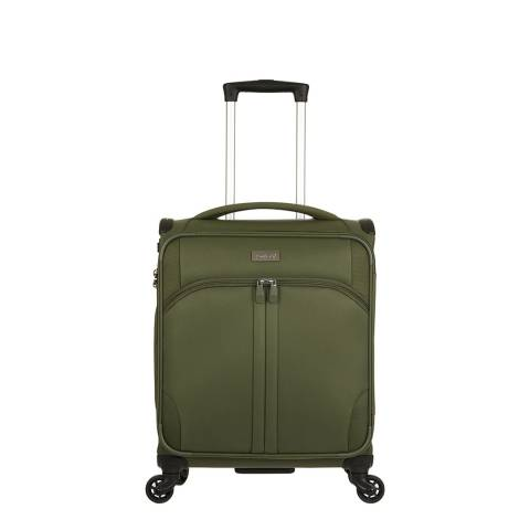 Antler Khaki Green Aire 4 Wheel Cabin Size Suitcase 55cm