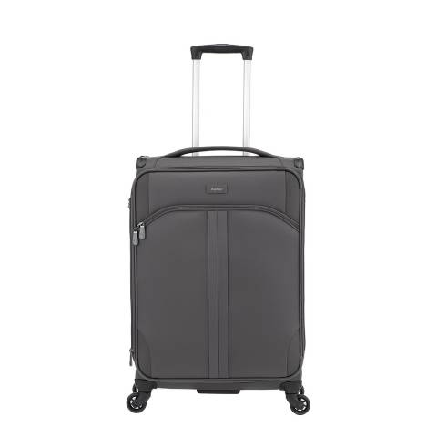 Antler Charcoal Aire 4 Wheel Medium Suitcase 68cm