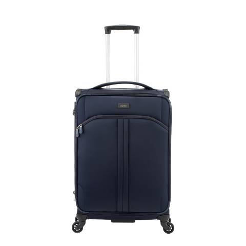 Antler Navy Aire 4 Wheel Medium Suitcase 68cm