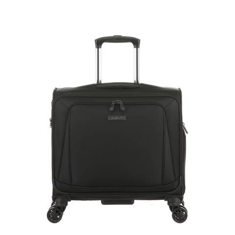 Antler Black Business 300 4 Wheel Landscape Mobile Office Suitcase 46cm