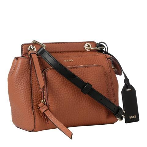 DKNY Terracotta Leather Mini Top Handle Crossbody Bag