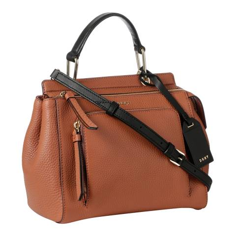 DKNY Terracotta Leather Small Top Handle Satchel