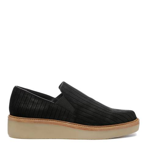 DKNY Black suede Kara Slip On Flats