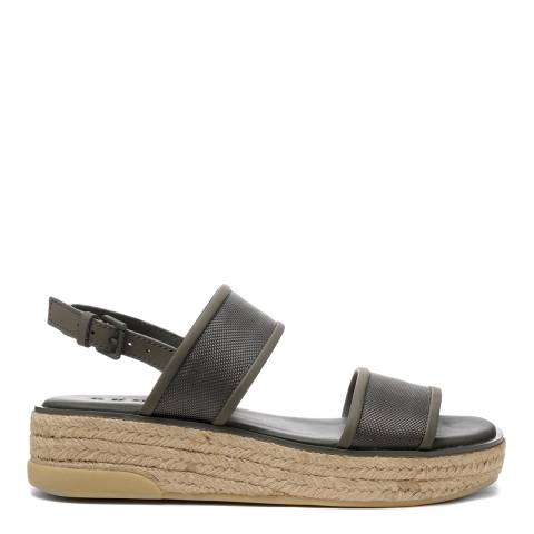 DKNY Military Green Sling Back Shana Sandals
