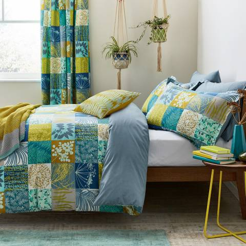 Clarissa Hulse Mini Patchwork Single Duvet Cover Set, Aqua