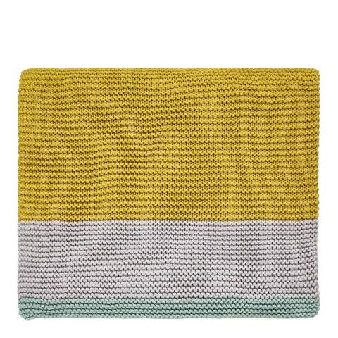 Clarissa Hulse Mini Patchwork Knitted Throw, Aqua