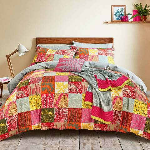 Clarissa Hulse Mini Patchwork Double Duvet Cover Set, Pink
