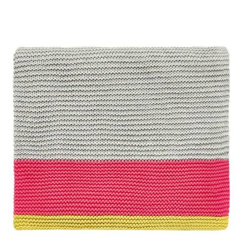 Clarissa Hulse Mini Patchwork Knitted Throw,Pink