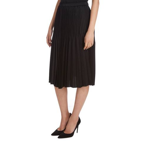 Donna Karan New York Black Pleated Skirt