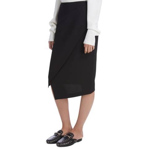 Donna Karan New York Black Midi Wrap Skirt