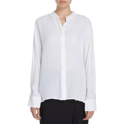 Donna Karan New York Ivory Silk Dolman Sleeve Blouse