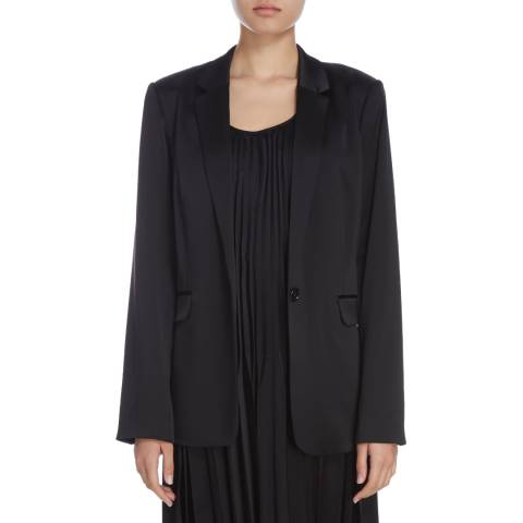Donna Karan New York Black One Button Blazer