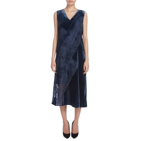 Donna Karan New York Navy Dragonfly V Neck Dress