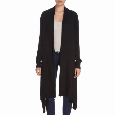 Donna Karan New York Black Long Sleeve Merino/Silk Blend Cardigan