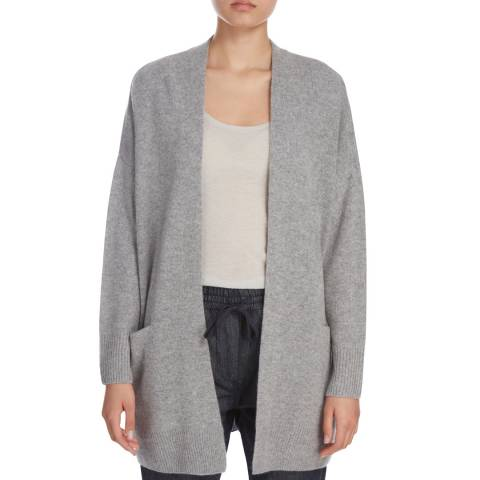 Donna Karan New York Heather Grey Cashmere Cardigan