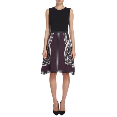 DKNY Purple/Print Scarf Skirt