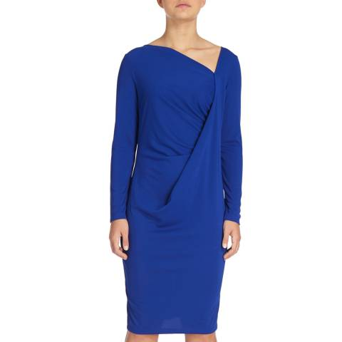 DKNY Sapphire Long Sleeve Drape Dress