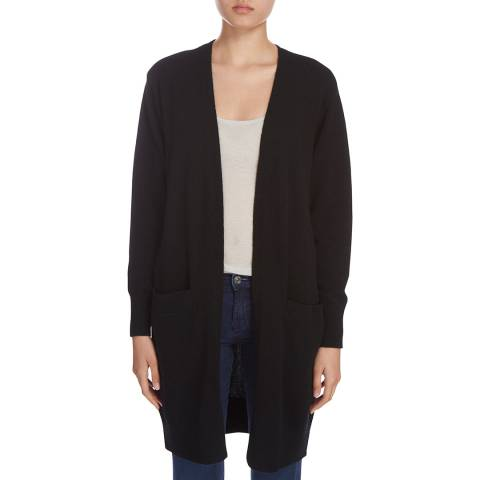Donna Karan New York Black Long Sleeve Pocket Cardigan