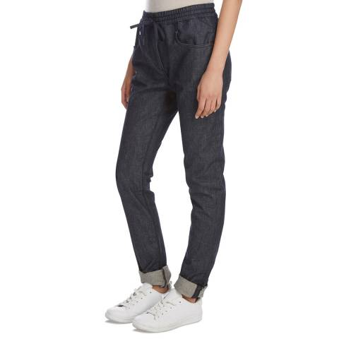 DKNY Indigo Cotton Pull On Trousers