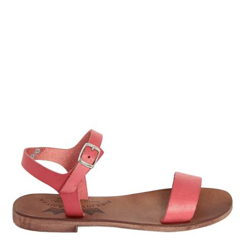 Antica Calzoleria Red Leather Single Strap Sandal