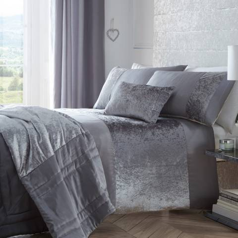 Portfolio Boulevard Single Duvet Cover Set, Dove Grey