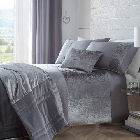 Portfolio Boulevard Super King Duvet Cover Set, Dove Grey