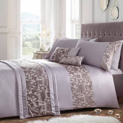 Portfolio Grace Double Duvet Cover Set, Mauve