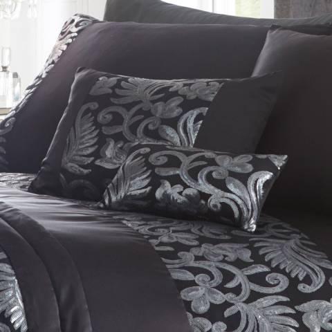 Portfolio Grace Petite Cushion, Black
