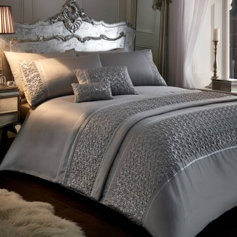 Portfolio Zenia King Duvet Cover Set, Silver