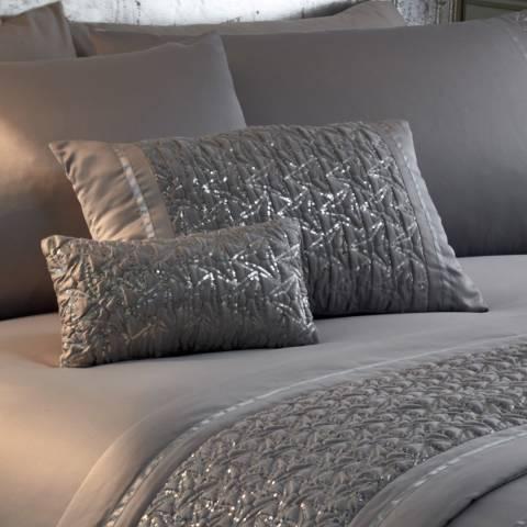 Portfolio Zenia Petite Cushion, Silver