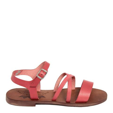 Antica Calzoleria Red Leather Greek Style Sandal