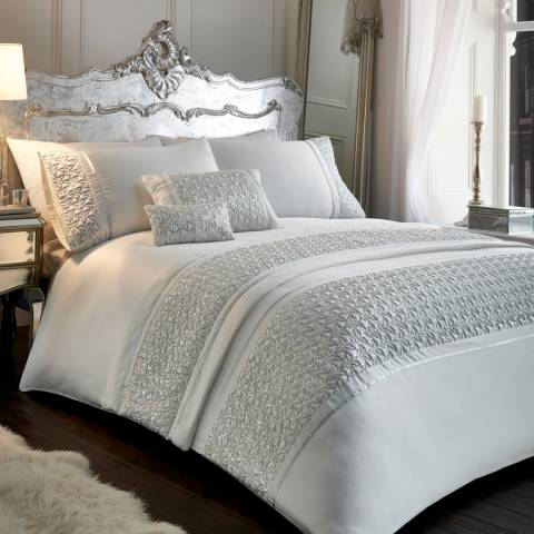Portfolio Zenia Super King Duvet Cover Set, White