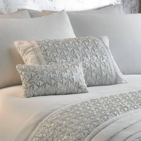 Portfolio Zenia Petite Cushion, White