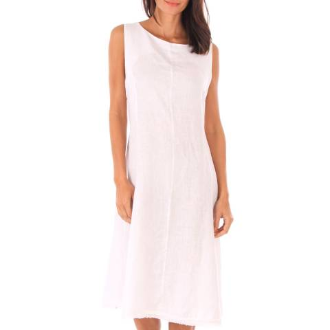 Toutes belles en LIN White Sleeveless Midi Dress