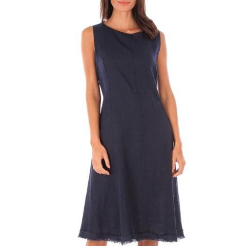 Comptoir Du Lin Navy Sleeveless Midi Dress