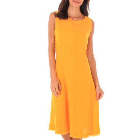 Toutes belles en LIN Orange Sleeveless Midi Dress