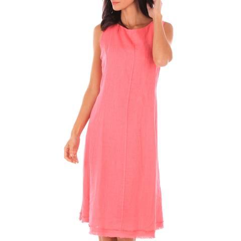 Toutes belles en LIN Pink Sleeveless Midi Dress