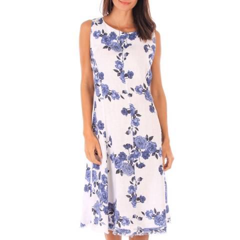 Toutes belles en LIN White Floral Print Midi Dress