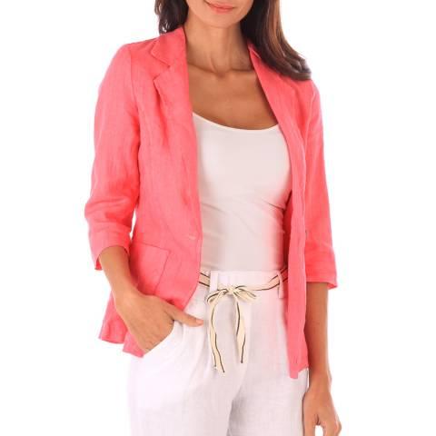 Toutes belles en LIN Pink Linen Jacket