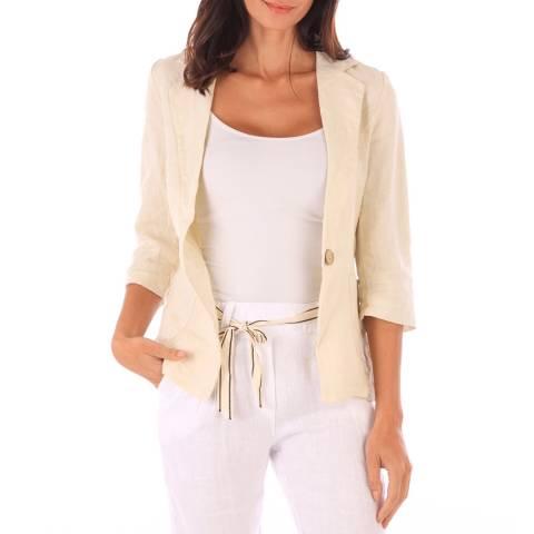 Toutes belles en LIN Beige Linen Jacket