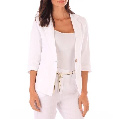 Toutes belles en LIN White Linen Jacket