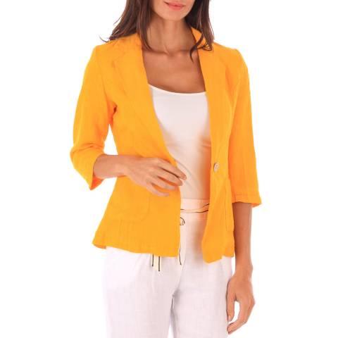Toutes belles en LIN Orange Linen Jacket