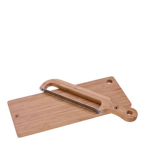 Laguiole Bread Cutting Board with Knife-Saw