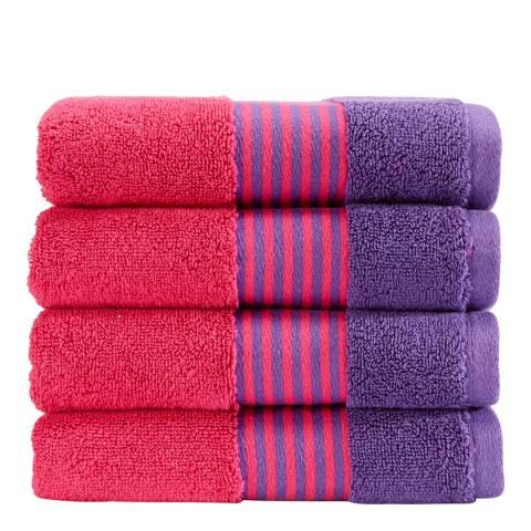Kingsley by Christy Duo Hand Towel, Fandango/Purple