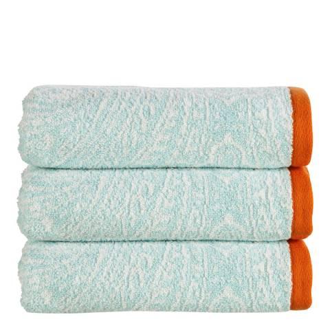 Kingsley by Christy Moda Hand Towel, Aqua