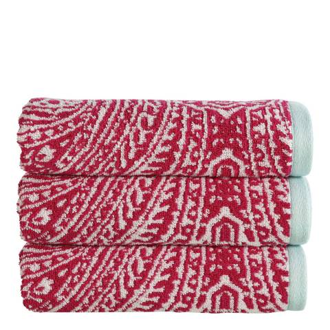 Kingsley by Christy Moda Hand Towel, Berry