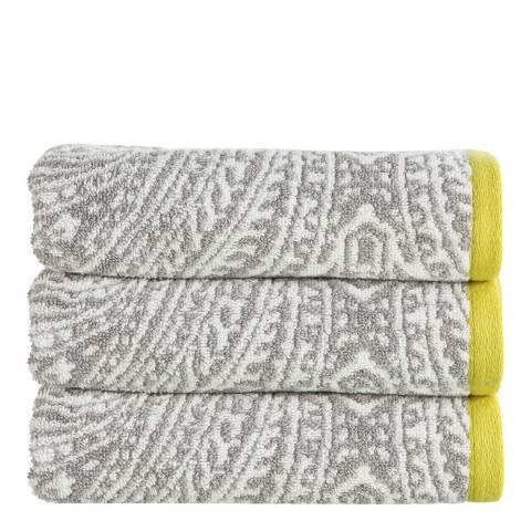 Kingsley by Christy Moda Bath Sheet, Silver