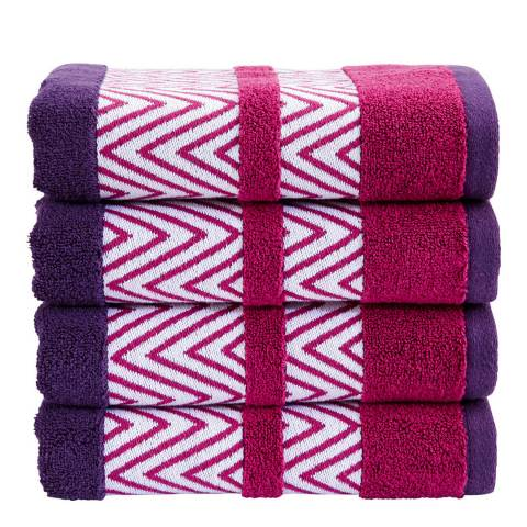 Kingsley by Christy Tribal Hand Towel, Damson
