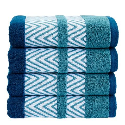 Kingsley by Christy Tribal Hand Towel, Petrol