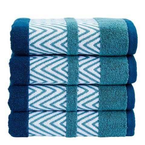 Kingsley by Christy Tribal Bath Towel, Petrol